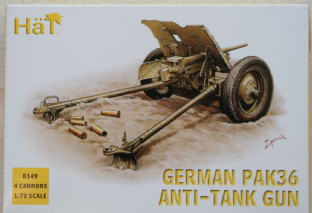 HaT 1/72 HAT8149 German 37mm PaK 36 Anti Tank Gun (WW2)
